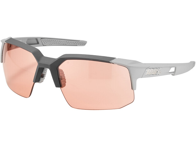 100% Speedcoupe Brille soft tact stone grey/HD multilayer
